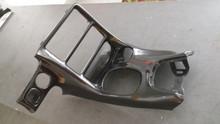 1997-2004; C5; Center Console Radio Surround Shifter Plate; Carbon Fiber