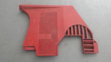 1978-1982; C3; Front Lower Kick Panel Speaker Grille: RH Passenger; RED