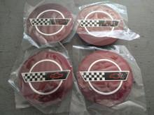 1993-1993; C4; Center Wheel Cap Emblem; 40th Anniversary; Set of 4