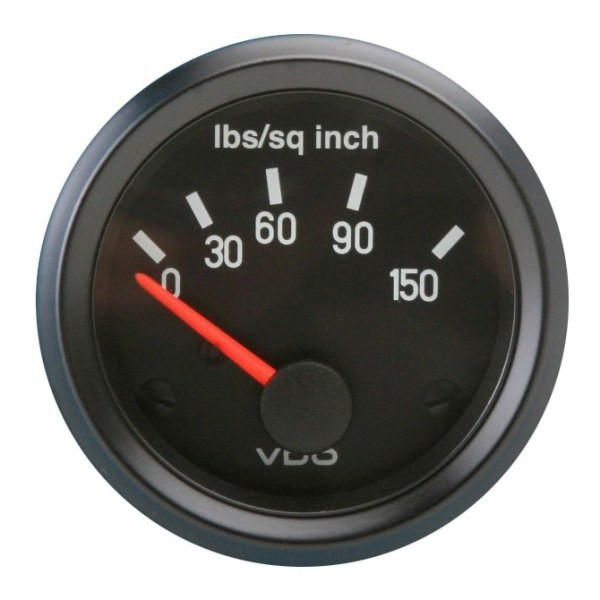"VDO Cockpit Series 2 1/16"" 150 Oil Pressure Gauge 350041"