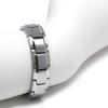 Novoa Men's Quad-Element Brushed Stainless Steel Magnetic Bracelet