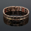 Novoa Men's Quad-Element Rose Gold Colored Titanium Magnetic Bracelet