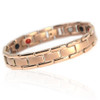Novoa Men's Quad-Element Rose Gold Colored Titanium Magnetic Bracelet