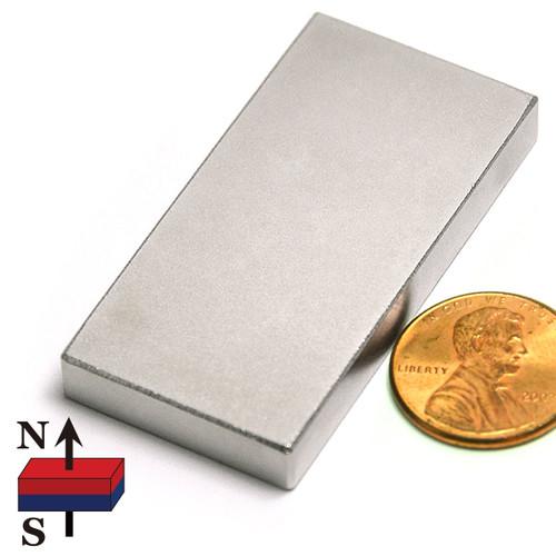 "2x1x1/4"" NdFeB Rare Earth Rectangle Magnet"