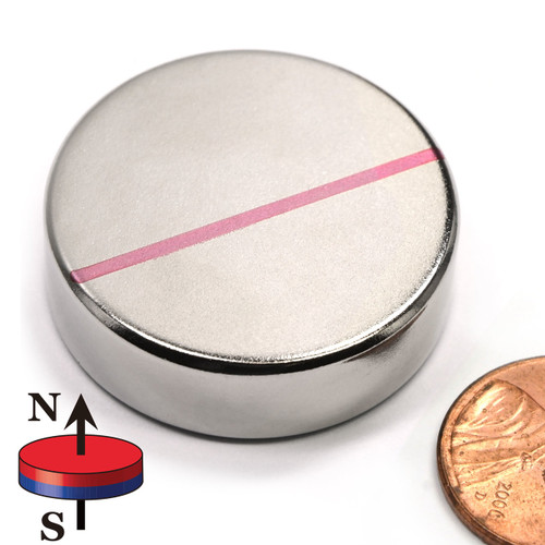 "1.26"" x 3/8"" Neodymium Rare Earth Disc Magnet"
