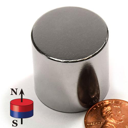 "1X1"" N50 Cylinderical Neodymium Magnet"