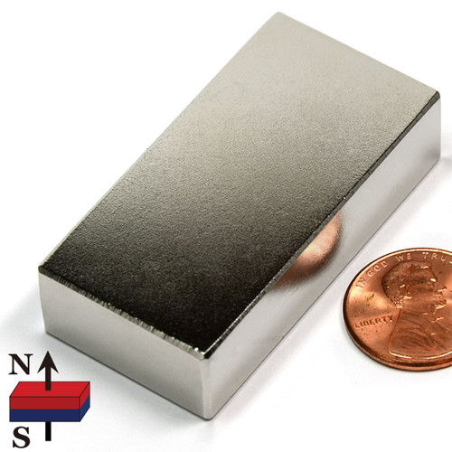 "N52 2""x1""x1/2"" NdFeB Rare Earth Magnets"