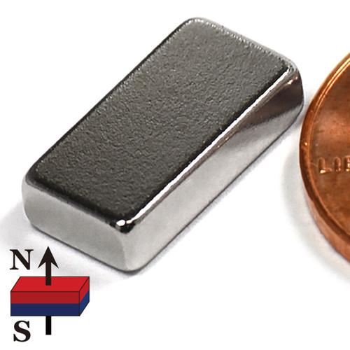 "N50 1/2x1/4x1/8"" NdFeB Rare Earth Magnet"