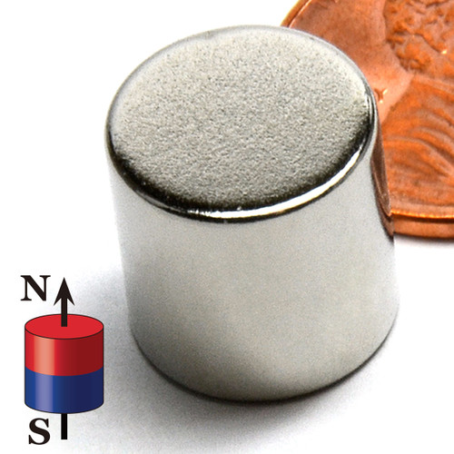 "N52 Disc 1/2x1/2"" Rare Earth Magnet"