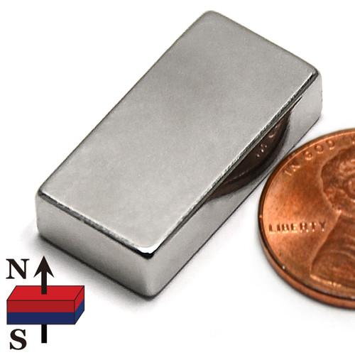 """N52  1""""x1/2""""x1/4"""" Rare Earth Magnet"""