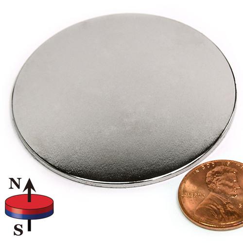 "2 x 1/16"" N45 Neodymium Magnet"