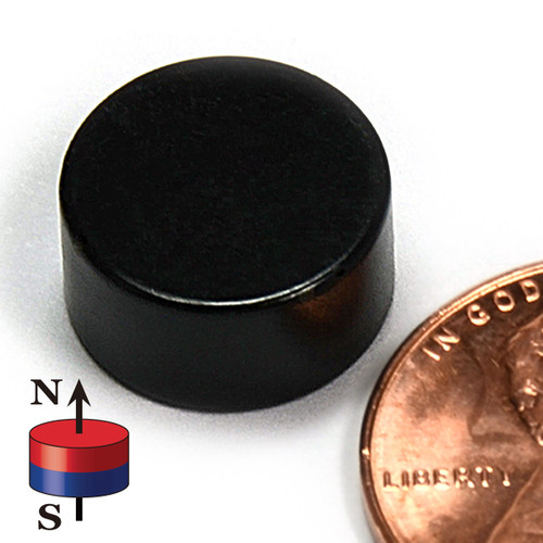 "N50 Disc 1/2""X1/4"" NdFeB Rare Earth Epoxy coated"