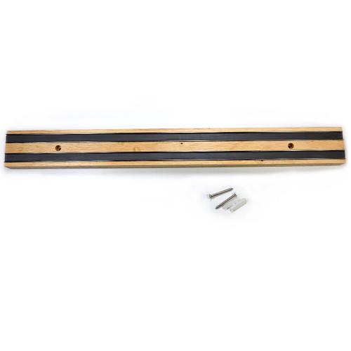 """18-1/2"""" Oak Magnetic Knife Strip"""
