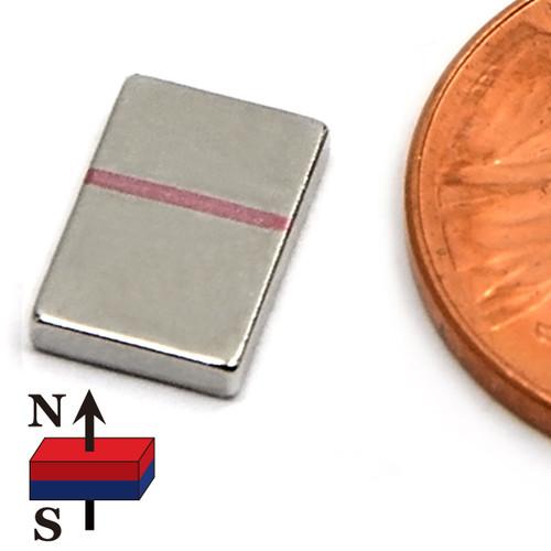 """3/8""""x1/4""""x1/16"""" Neodymium Rare Earth Block Magnet"""