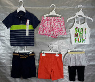 Wholesale Lot Assorted Childrens Clothing Brand New Name Brand Infants & Toddlers 100 PCS