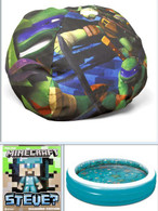 Wholesale Pallet of Kid's toys, pools, bean bag chairs, TMNT, Minecraft Brand New Overstock Manifested