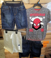 Wholesale Lot of 50 Children Boys Clothing Denim Spiderman Shirts Brand New Overstock Mixed Sizes