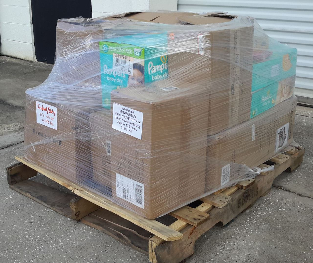 Wholesale MANIFESTED Pallet Of OVERSTOCK Brand New Infant