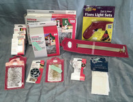 Wholesale Resale Lot of 88 Holiday Christmas Light Repair flashers fuses Hooks Misc Items Brand New
