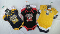 Wholesale Lot of NHL Fan Baby Apparel Sabers Hurricanes Predators Sharks Brand New OVERSTOCK Manifested Sets of 3