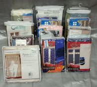 Wholesale Lot of New Window Decor Curtains Panels Valances 165 Items