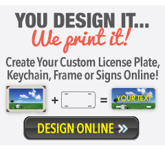 design your own custom license plate tag or sign