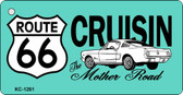 Cruisin Route 66 Novelty Metal License Plate