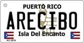 Arecibo Puerto Rico Flag Novelty Key Chain