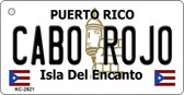 Cabo Rojo Puerto Rico Flag Novelty Key Chain