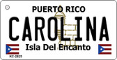 Carolina Puerto Rico Flag Novelty Key Chain