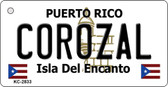 Corozal Puerto Rico Flag Novelty Key Chain