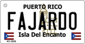 Fajardo Puerto Rico Flag Novelty Key Chain