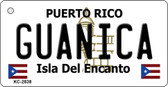 Guanica Puerto Rico Flag Novelty Key Chain
