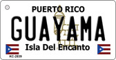 Guayama Puerto Rico Flag Novelty Key Chain