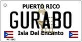 Gurabo Puerto Rico Flag Novelty Key Chain