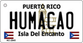 Humacao Puerto Rico Flag Novelty Key Chain
