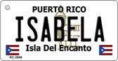 Isabela Puerto Rico Flag Novelty Key Chain