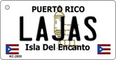 Lajas Puerto Rico Flag Novelty Key Chain