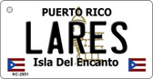 Lares Puerto Rico Flag Novelty Key Chain