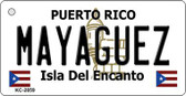 Mayaguez Puerto Rico Flag Novelty Key Chain