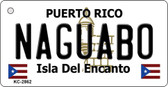 Naguabo Puerto Rico Flag Novelty Key Chain