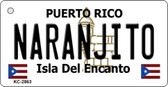 Naranjito Puerto Rico Flag Novelty Key Chain