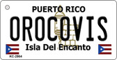 Orocovis Puerto Rico Flag Novelty Key Chain