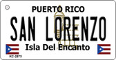 San Lorenzo Puerto Rico Flag Novelty Key Chain