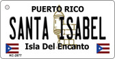 Santa Isabel Puerto Rico Flag Novelty Key Chain