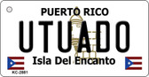 Utuado Puerto Rico Flag Novelty Key Chain