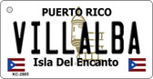 Villalba Puerto Rico Flag Novelty Key Chain