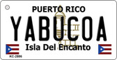 Yabucoa Puerto Rico Flag Novelty Key Chain