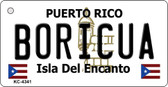 Boricua Puerto Rico Flag Novelty Key Chain