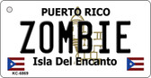Zombie Puerto Rico Flag Novelty Key Chain